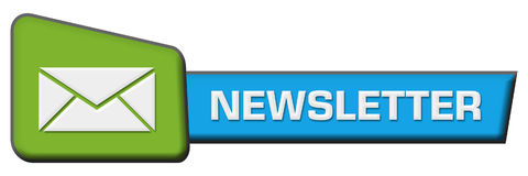 Newsletter Green Blue Triangle Horizontal Royalty Free Stock Images