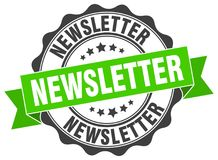 Newsletter stamp Royalty Free Stock Images