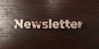 Newsletter - grungy wooden headline on Maple  - 3D rendered royalty free stock image Royalty Free Stock Photography