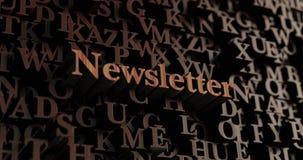 Newsletter - hölzernes 3D übertrug Buchstaben/Mitteilung Stockfotos