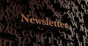 Newsletter - hölzernes 3D übertrug Buchstaben/Mitteilung Stockfotografie