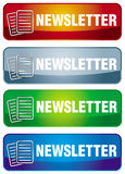Newsletter icon. With abstract letter symbol and text Royalty Free Stock Images