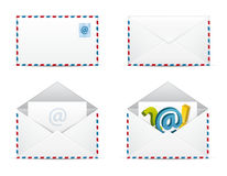 Newsletter-Ikonen-vektorset Lizenzfreie Stockbilder