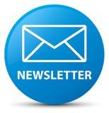 Newsletter cyan blue round button. Newsletter isolated on cyan blue round button abstract illustration Stock Images