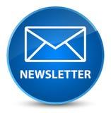 Newsletter elegant blue round button. Newsletter isolated on elegant blue round button abstract illustration Royalty Free Stock Photos