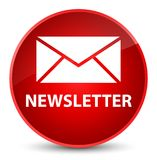 Newsletter elegant red round button Stock Images