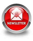 Newsletter glossy red round button Stock Photo