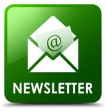Newsletter green square button Royalty Free Stock Photo