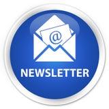 Newsletter premium blue round button. Newsletter isolated on premium blue round button abstract illustration Royalty Free Stock Photo