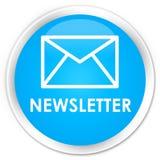 Newsletter premium cyan blue round button. Newsletter isolated on premium cyan blue round button abstract illustration Stock Photos