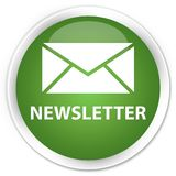 Newsletter premium soft green round button. Newsletter isolated on premium soft green round button abstract illustration Stock Photos