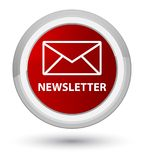 Newsletter prime red round button Stock Photo