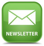 Newsletter special soft green square button Royalty Free Stock Images