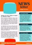 Newsletter- oder Websiteschablonendesign Stockbilder