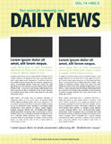 Newsletter. Page layout newsletter for use with business or nonprofit Stock Image