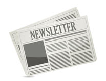 Newsletter paper illustration design Royalty Free Stock Images