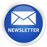 Newsletter premium blue round button. Newsletter isolated on premium blue round button abstract illustration Stock Image
