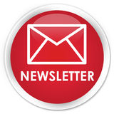 Newsletter premium red round button Royalty Free Stock Photography