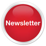 Newsletter premium red round button Royalty Free Stock Image