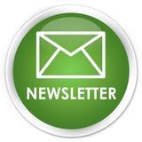 Newsletter premium soft green round button. Newsletter isolated on premium soft green round button abstract illustration Stock Photo