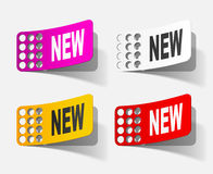 Newsletter, realistic design elements Stock Image