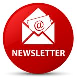 Newsletter red round button Stock Images