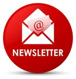 Newsletter red round button Royalty Free Stock Photo