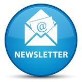 Newsletter special cyan blue round button Royalty Free Stock Image