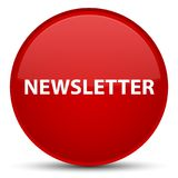 Newsletter special red round button Royalty Free Stock Images