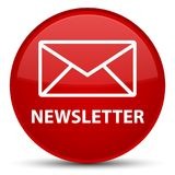 Newsletter special red round button Royalty Free Stock Image