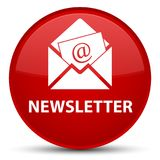 Newsletter special red round button Stock Images