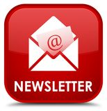 Newsletter special red square button Royalty Free Stock Photo