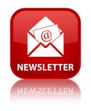 Newsletter special red square button Stock Photo