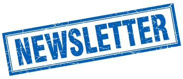 Newsletter stamp Stock Image