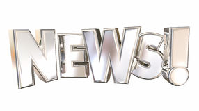 Newsletter-steigende Aktualisierungs-Mitteilung Stockfotografie