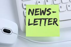 Newsletter subscribing internet business concept marketing campaign mouse stock photos