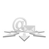 Newsletter. Symbol with some arrows Stock Image