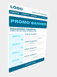 Newsletter template with business style Royalty Free Stock Image