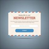 Newsletter unterzeichnen Form für Netz und Mobile Stockbilder