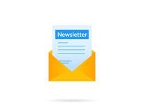 Newsletter Stock Photo