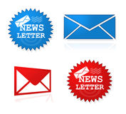 Newsletter website symbols Royalty Free Stock Photos
