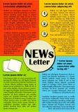 Newsletter or website template design. Stock Images