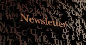 Newsletter - Wooden 3D rendered letters/message Stock Photos