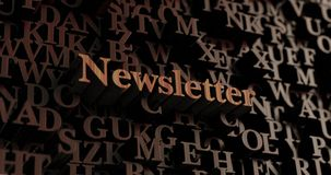 Newsletter - Wooden 3D rendered letters/message Stock Photography