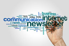 Newsletter word cloud Stock Images