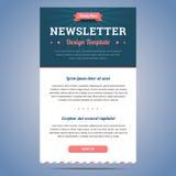 Newsletterdesignschablone Stockbild