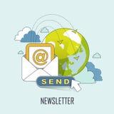 Newsletterkonzept Lizenzfreie Stockbilder