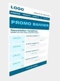 Newsletterschablone mit Geschäftsart Lizenzfreies Stockbild
