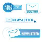 Newslettersymbole Stockfotografie
