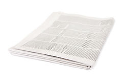 Newspaper. Isolated on white background Royalty Free Stock Images
